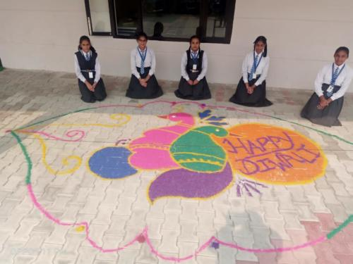 Rangoli Making On Diwali 2019